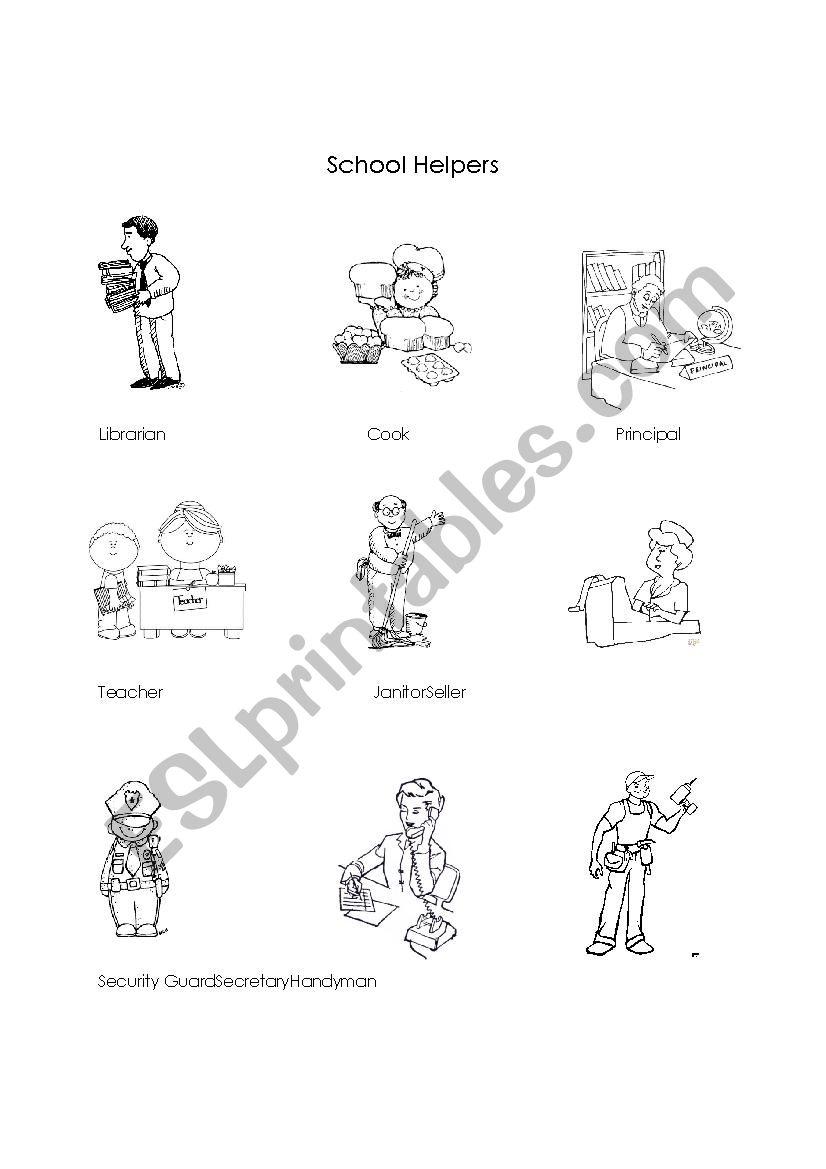 - School Helpers - ESL Worksheet By Gers22