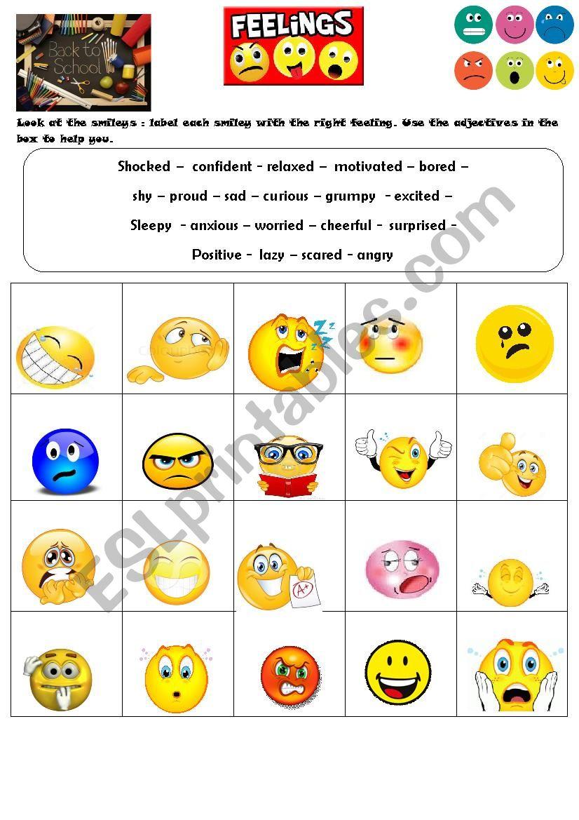 Back to school feelings - ESL worksheet by lilou12