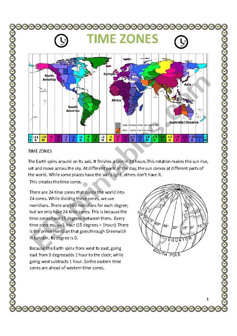 reading on time zones esl worksheet by dak n. Black Bedroom Furniture Sets. Home Design Ideas