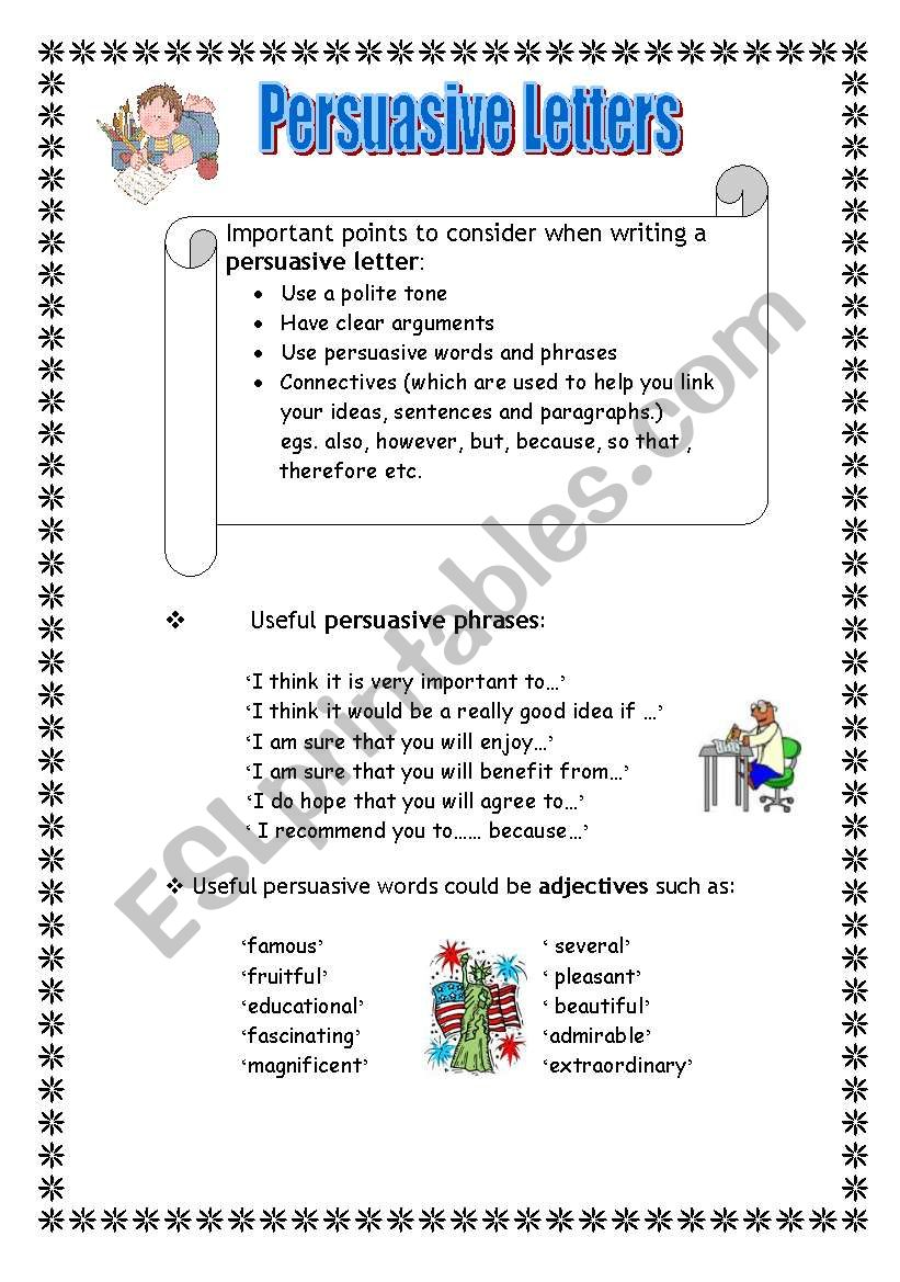 Persuasive letters esl worksheet by maltese primary teacher persuasive letters worksheet spiritdancerdesigns Image collections