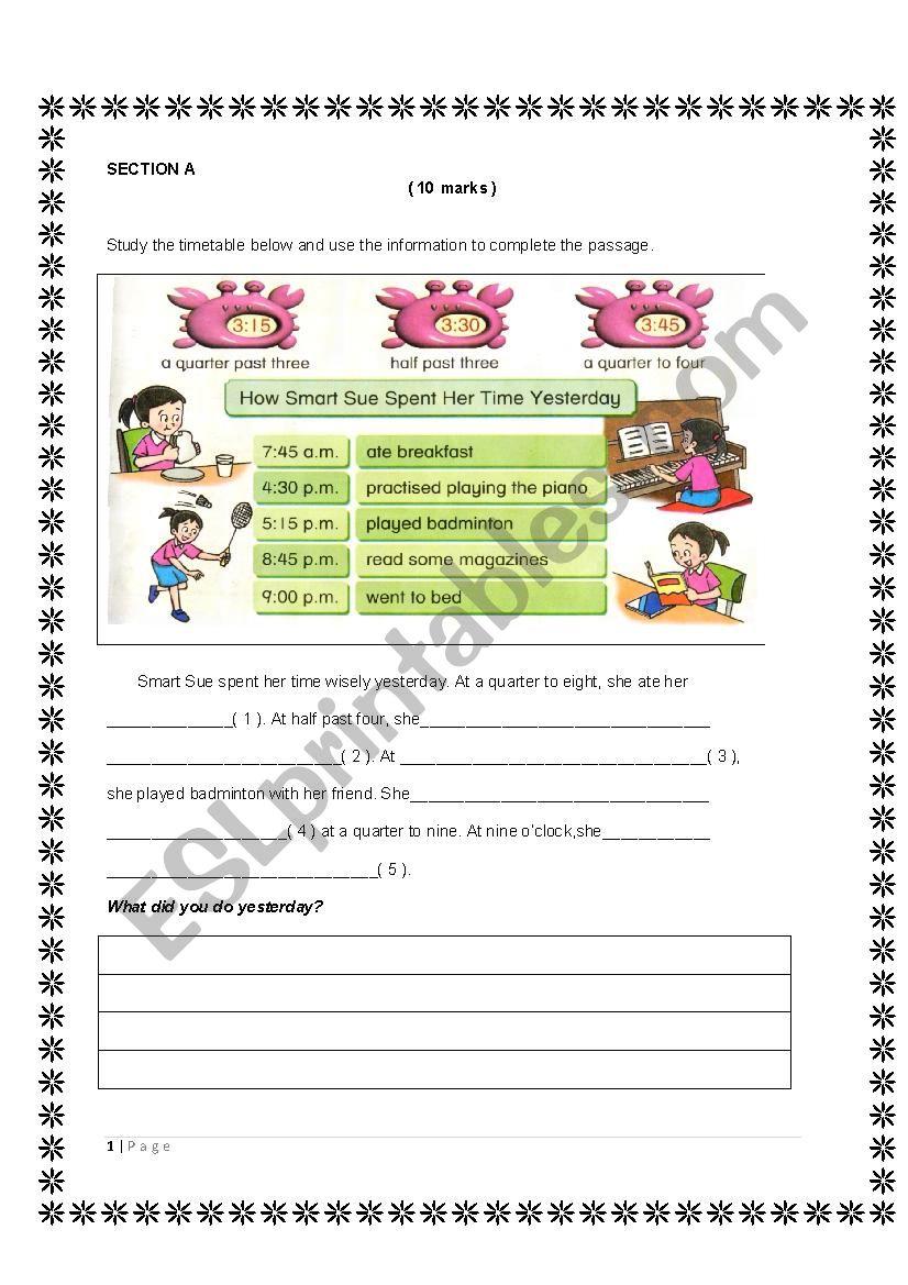 Simple writing for beginners worksheet