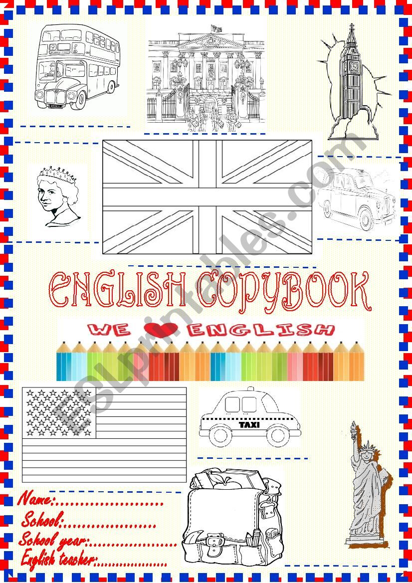 Copybook cover new , complete and colour