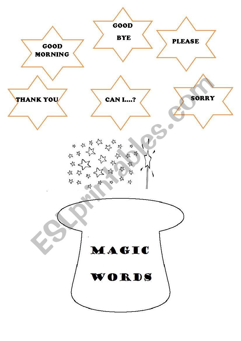 MAGIC WORDS worksheet