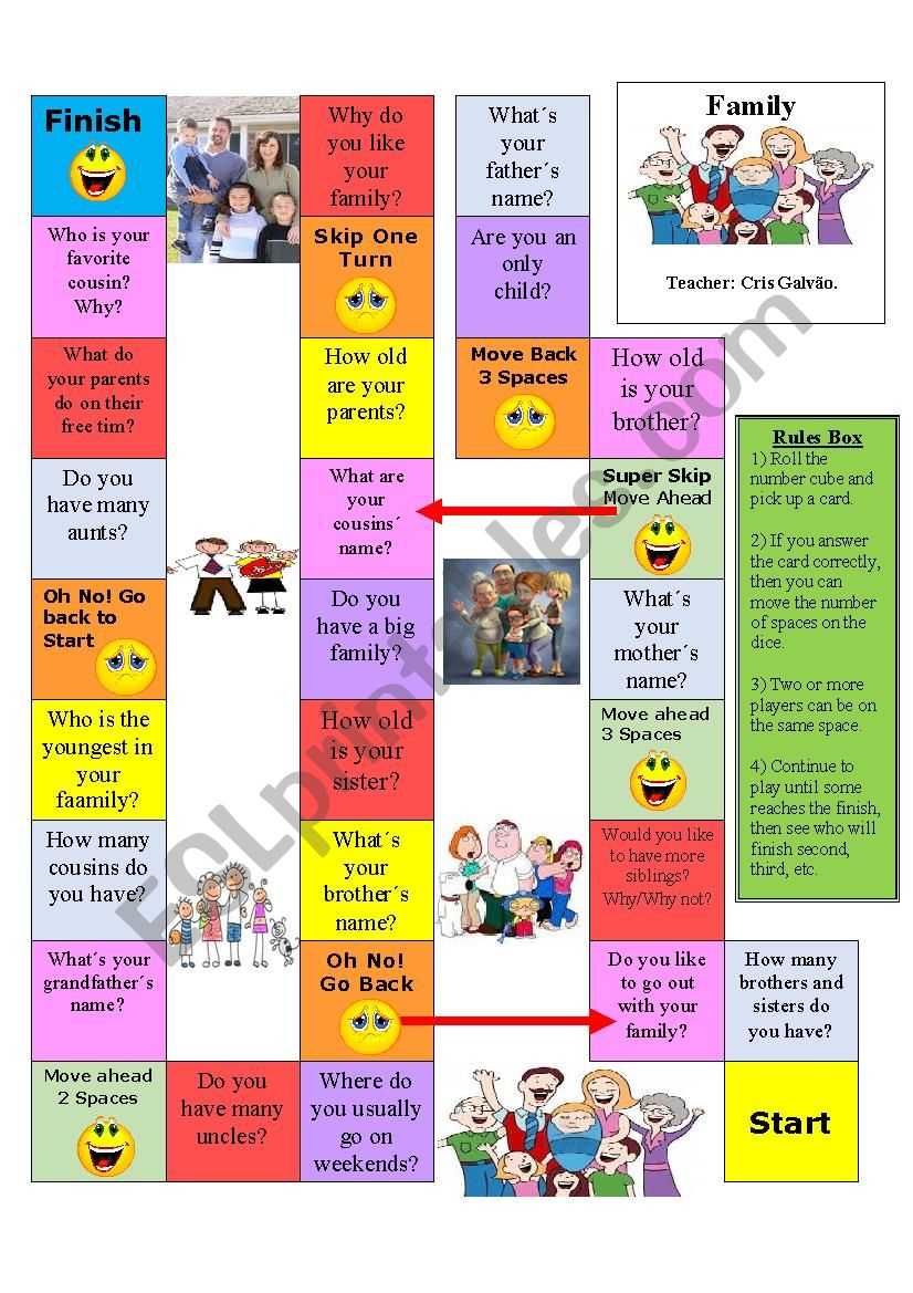 Family Conversation Board Game-Edited and Editable-Rules included