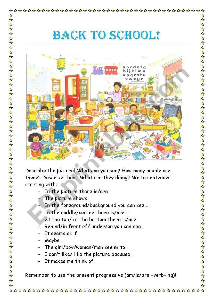 Back to school! worksheet