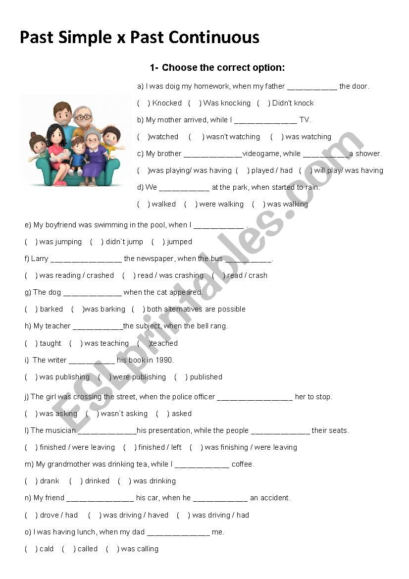 Past Simple x Past Continuous worksheet