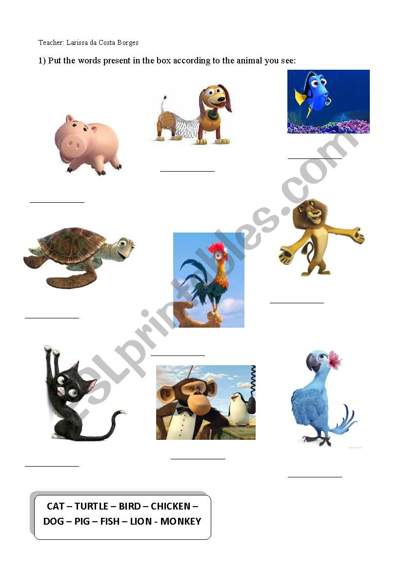 Animals and Pets  worksheet