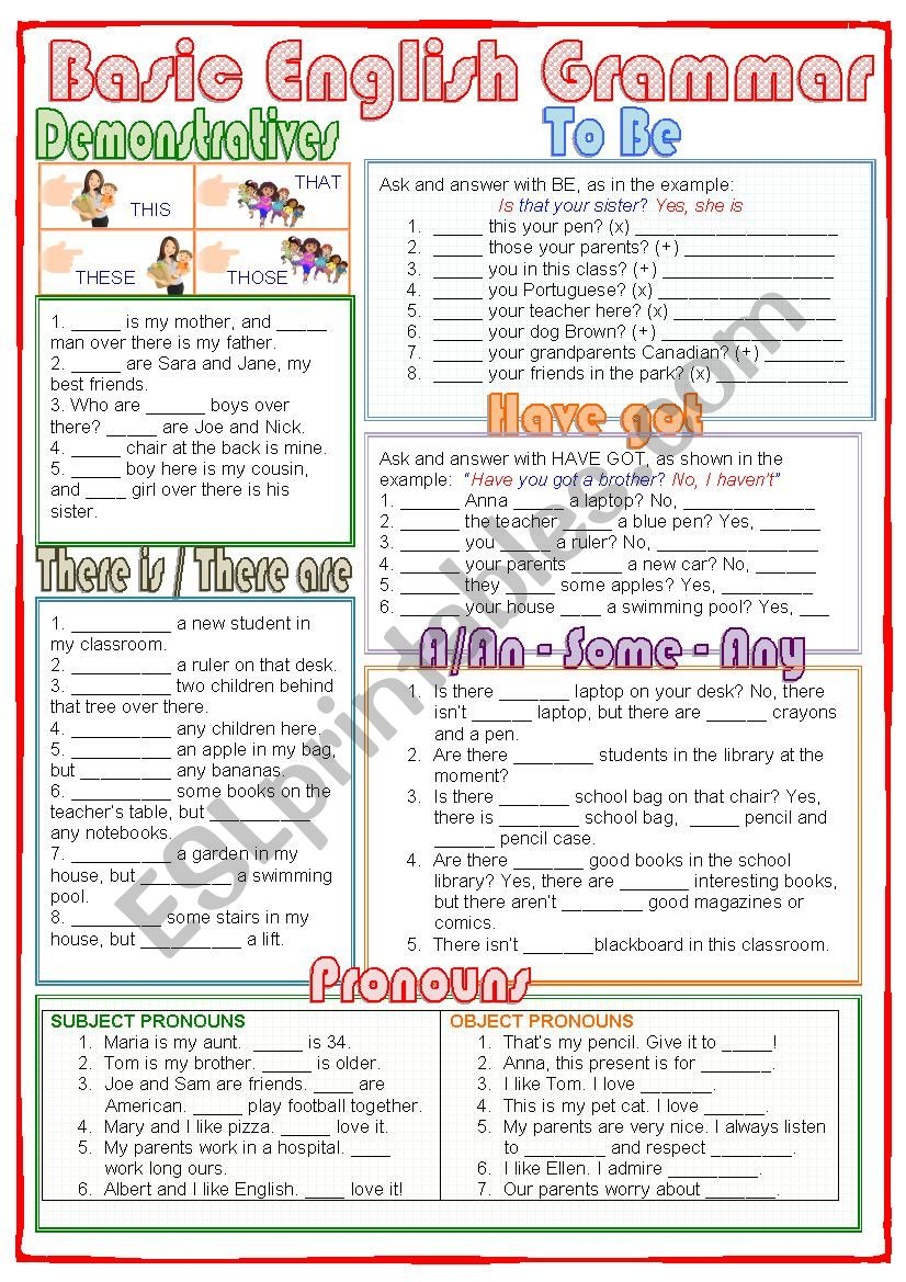 basic english grammar esl worksheet by nuria08. Black Bedroom Furniture Sets. Home Design Ideas
