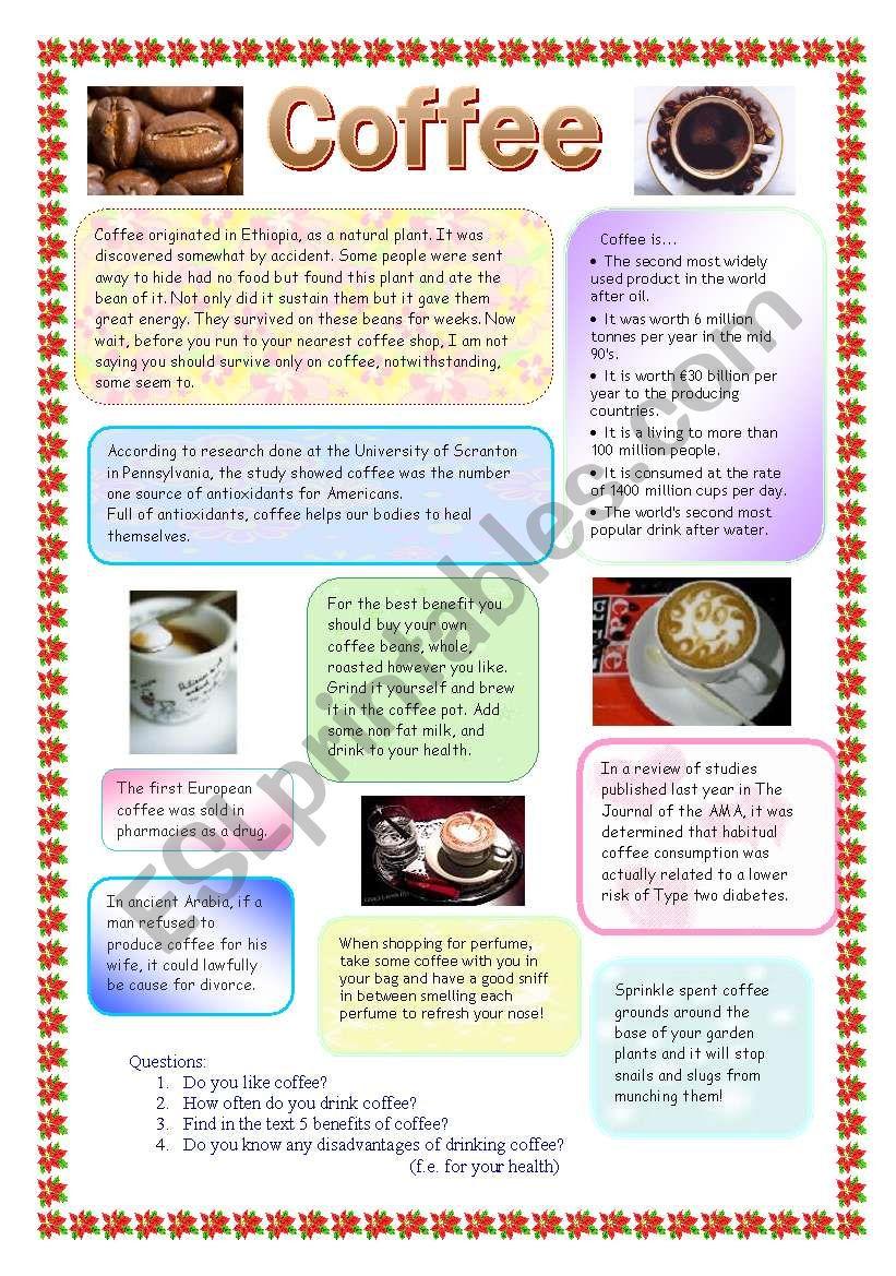 Coffee worksheet