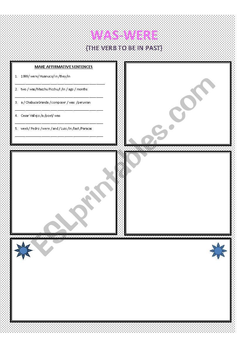 was-were worksheet