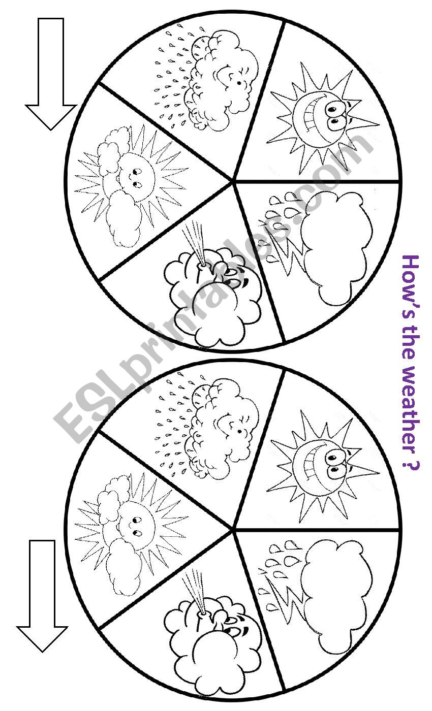 WEATHER SPINNER worksheet