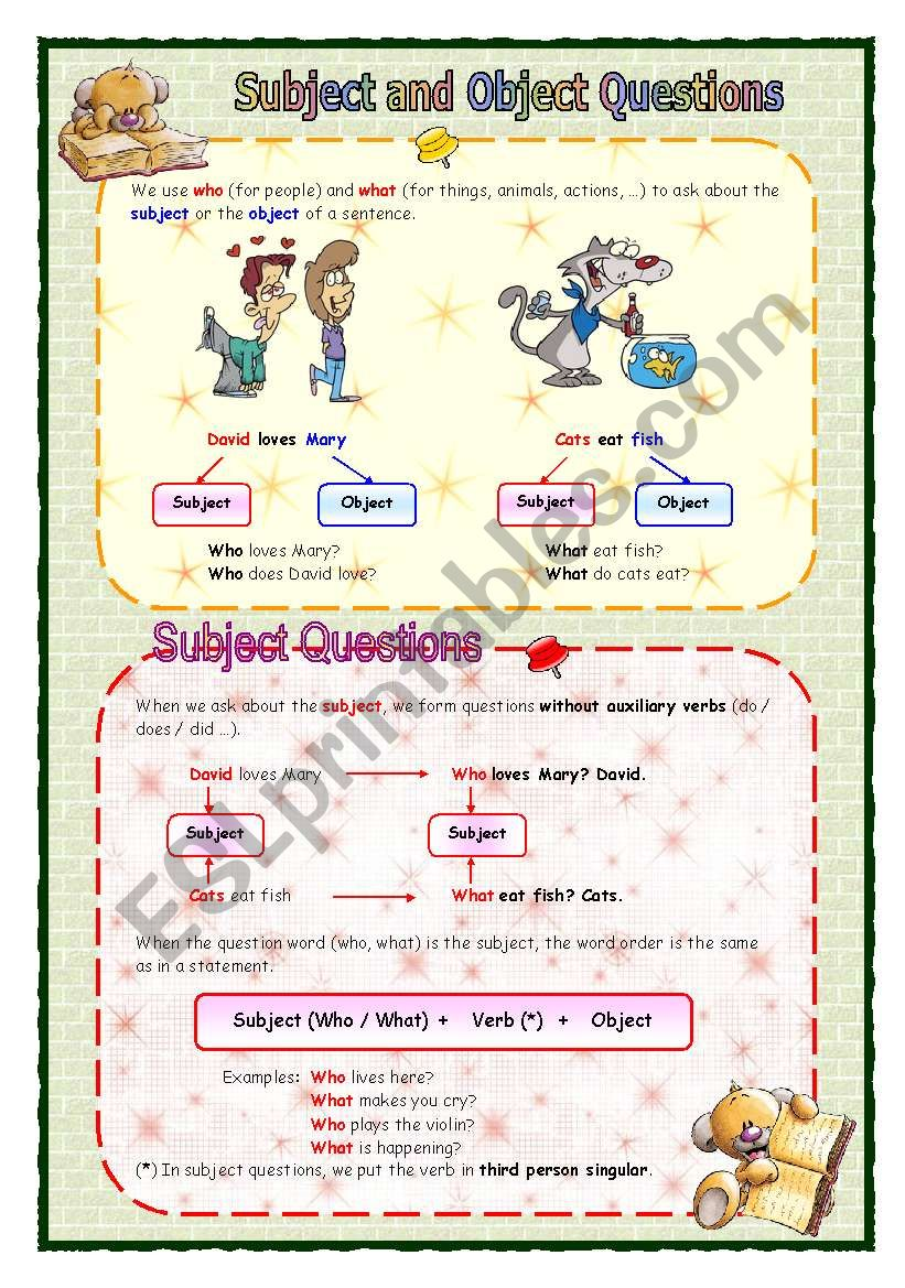 Subject and object questions guide (05.08.08)
