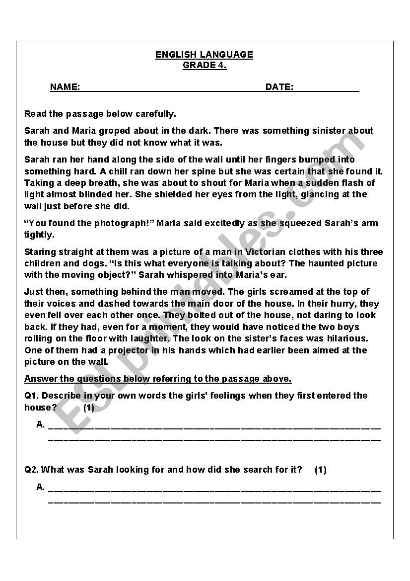 Mixed Language Worksheet worksheet