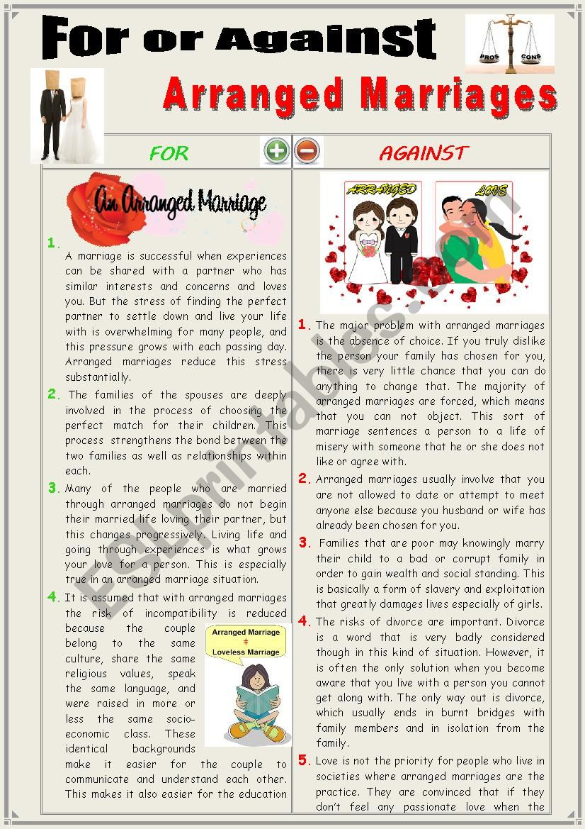 reasons against arranged marriage