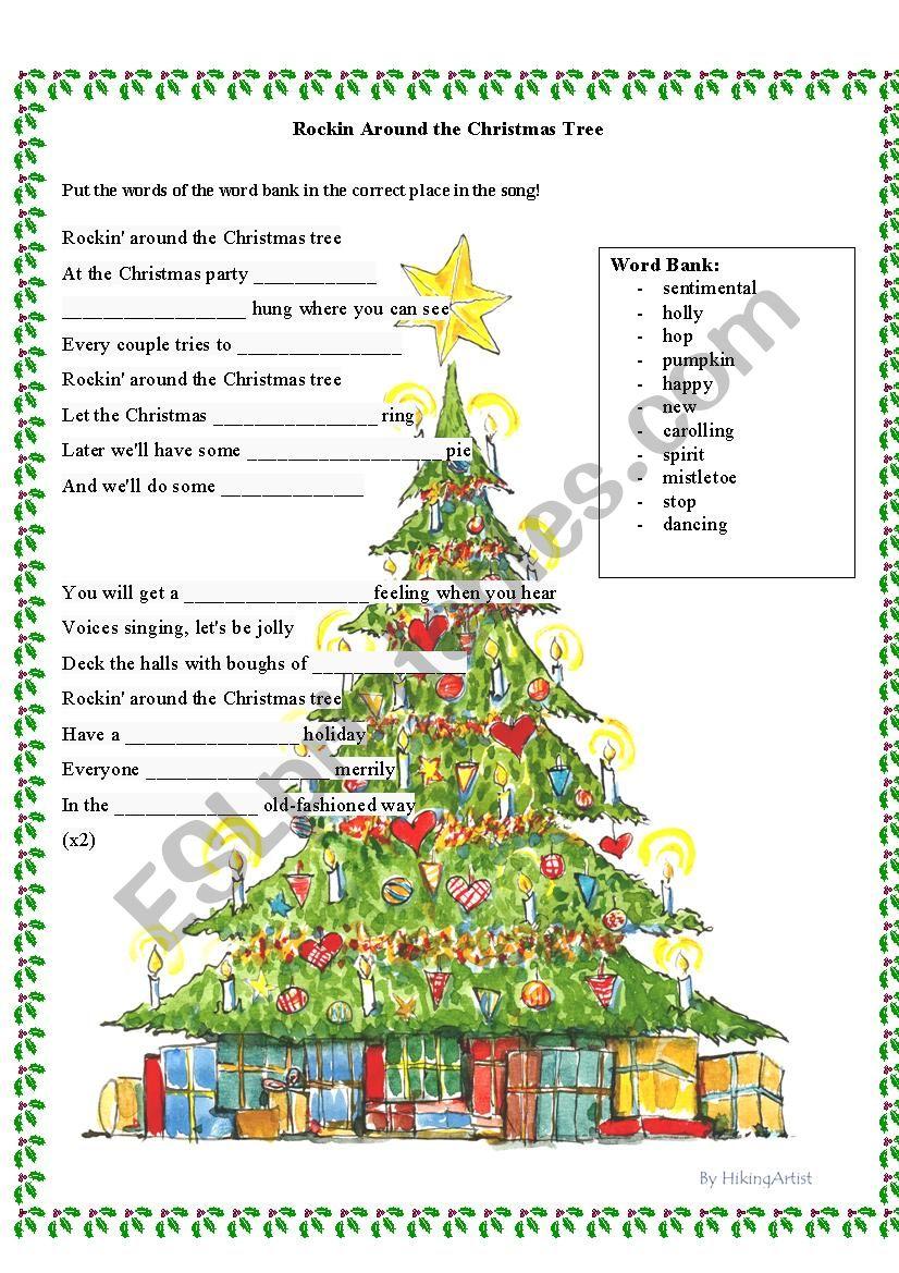 Rockin Around The Christmas Tree.Rockin Around The Christmas Tree Esl Worksheet By Alyra3