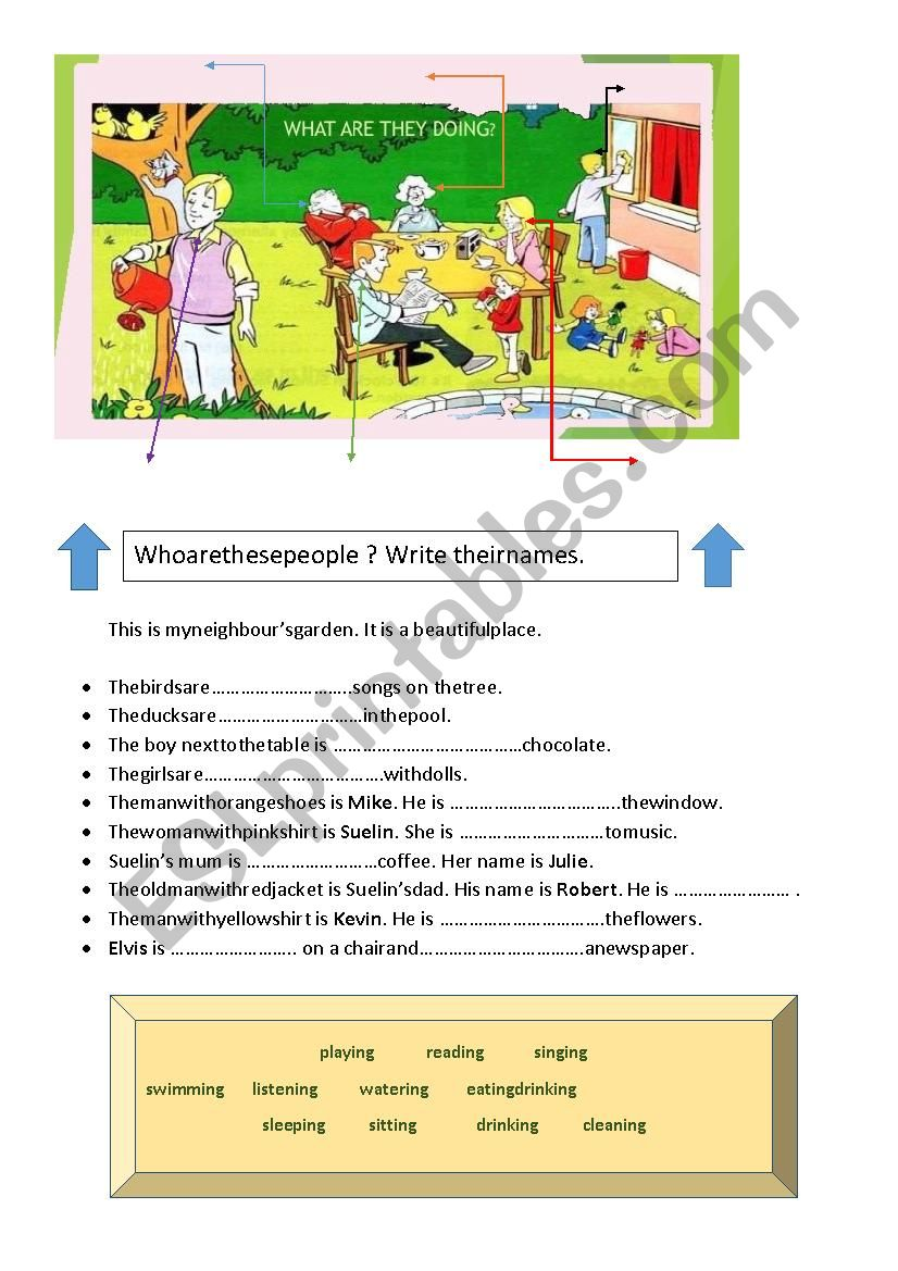 Present Continuous For Kids worksheet