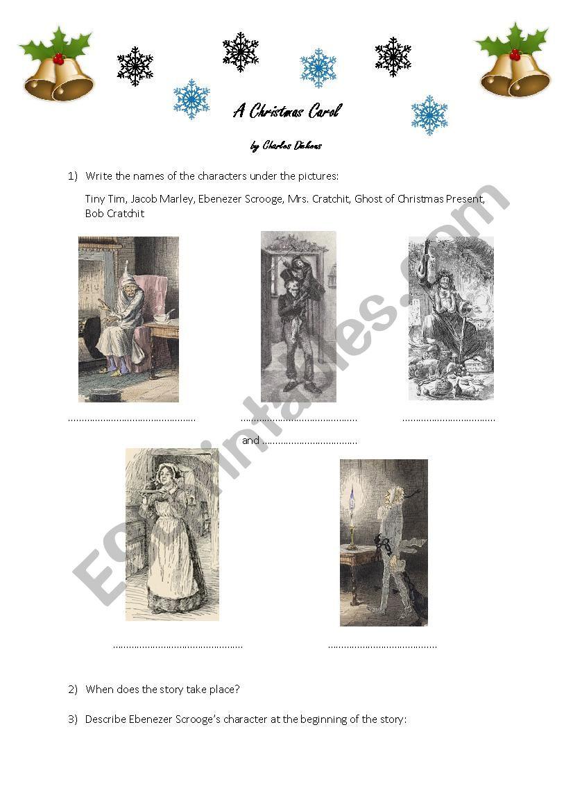 A Christmas Carol (by Charles Dickens) - ESL worksheet by xlilybluex