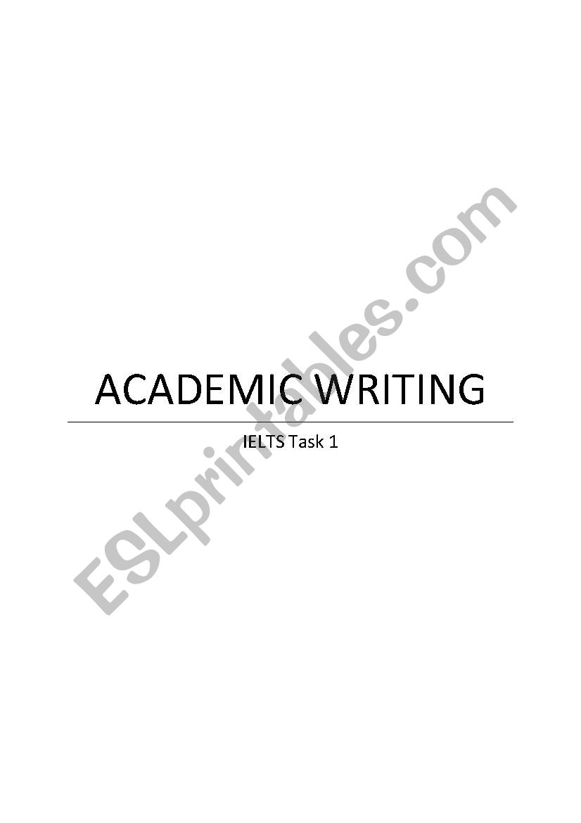 Academic writing: useful sentences and phrases (IELTS Task 1)