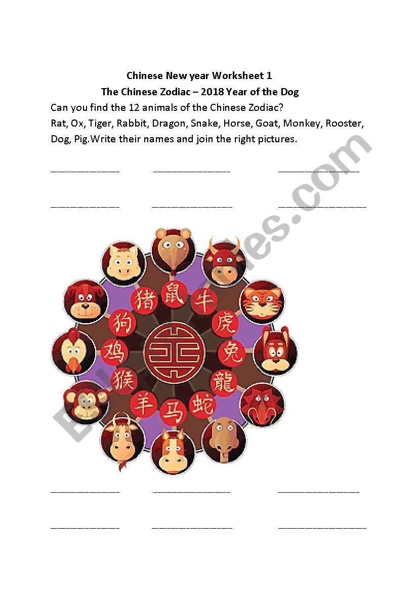12 animals of the Chinese Zodiac