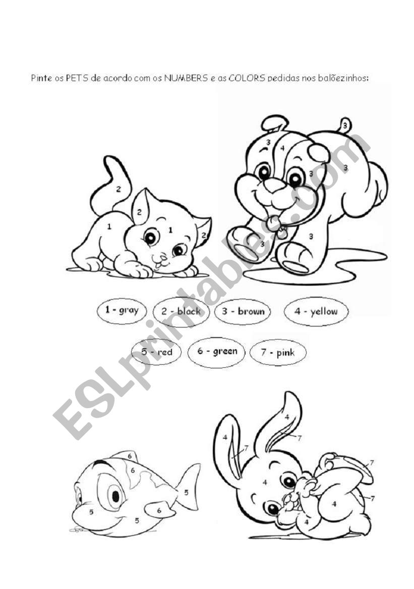 coloring pets esl worksheet by profevelise. Black Bedroom Furniture Sets. Home Design Ideas