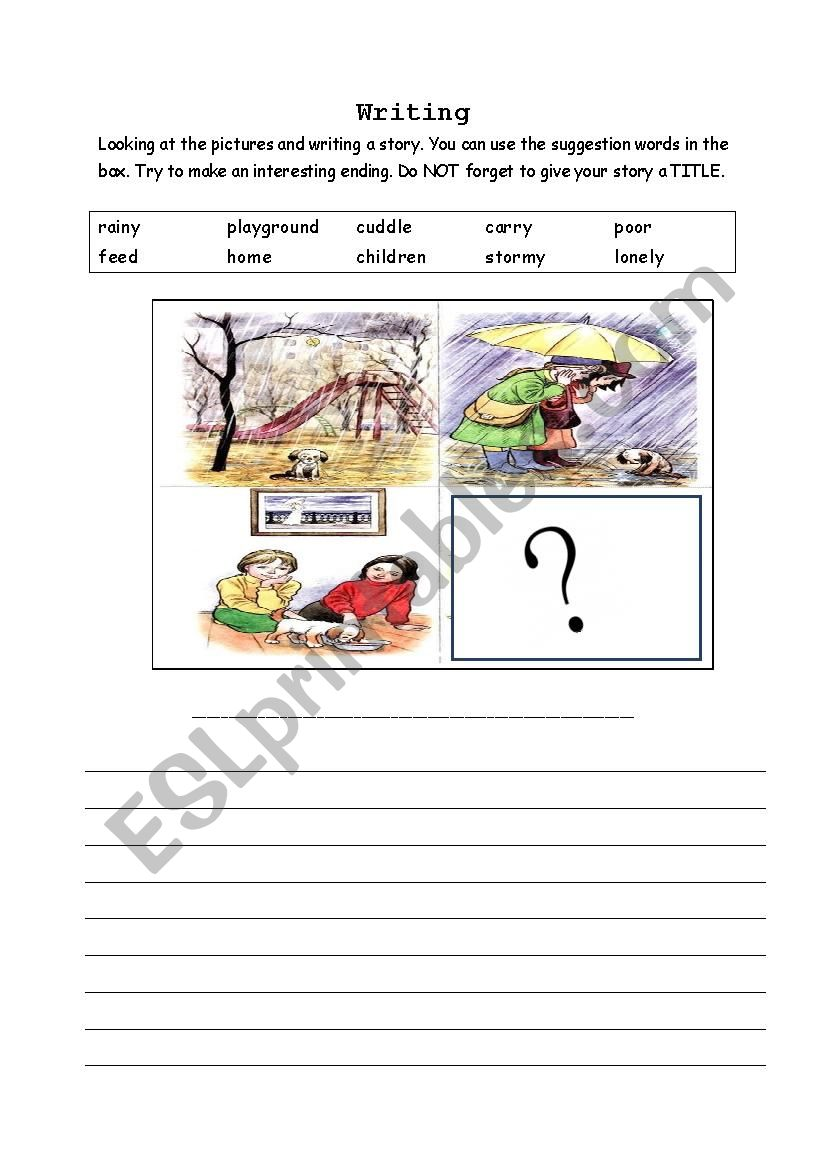 sequence pictures writing worksheet