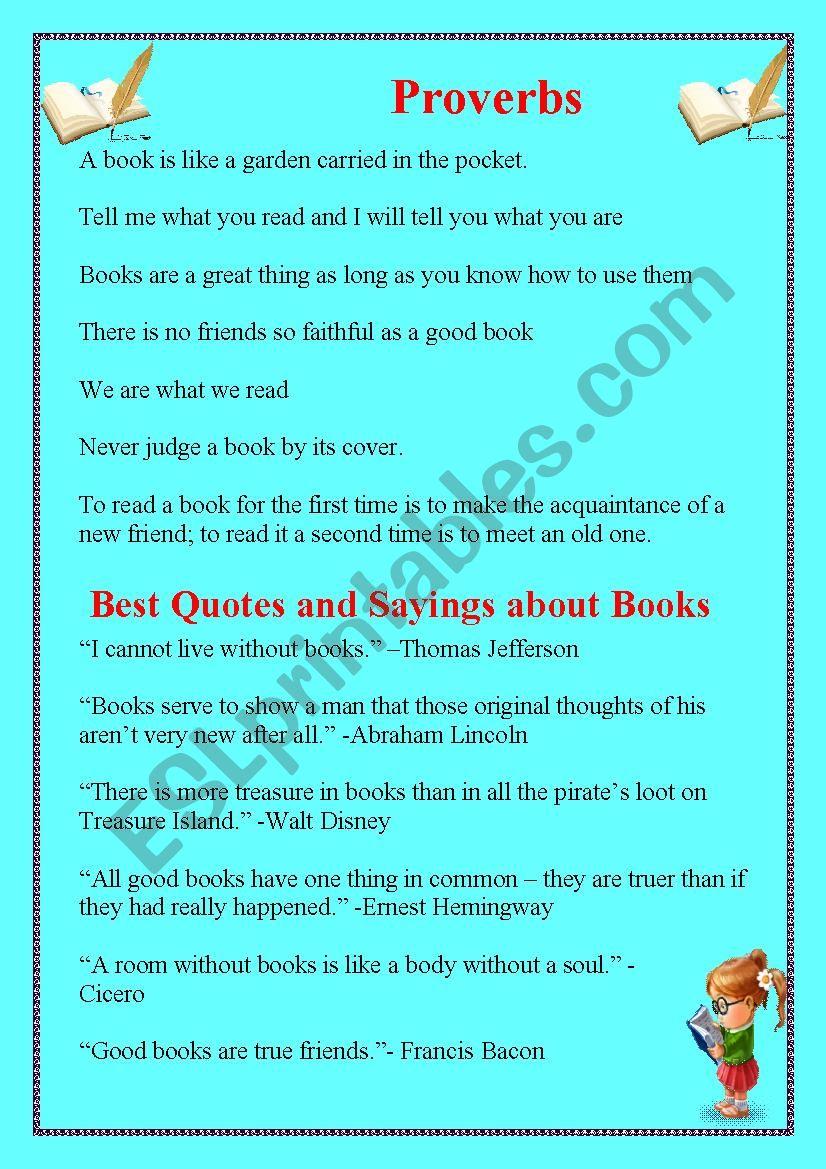 Books worksheet