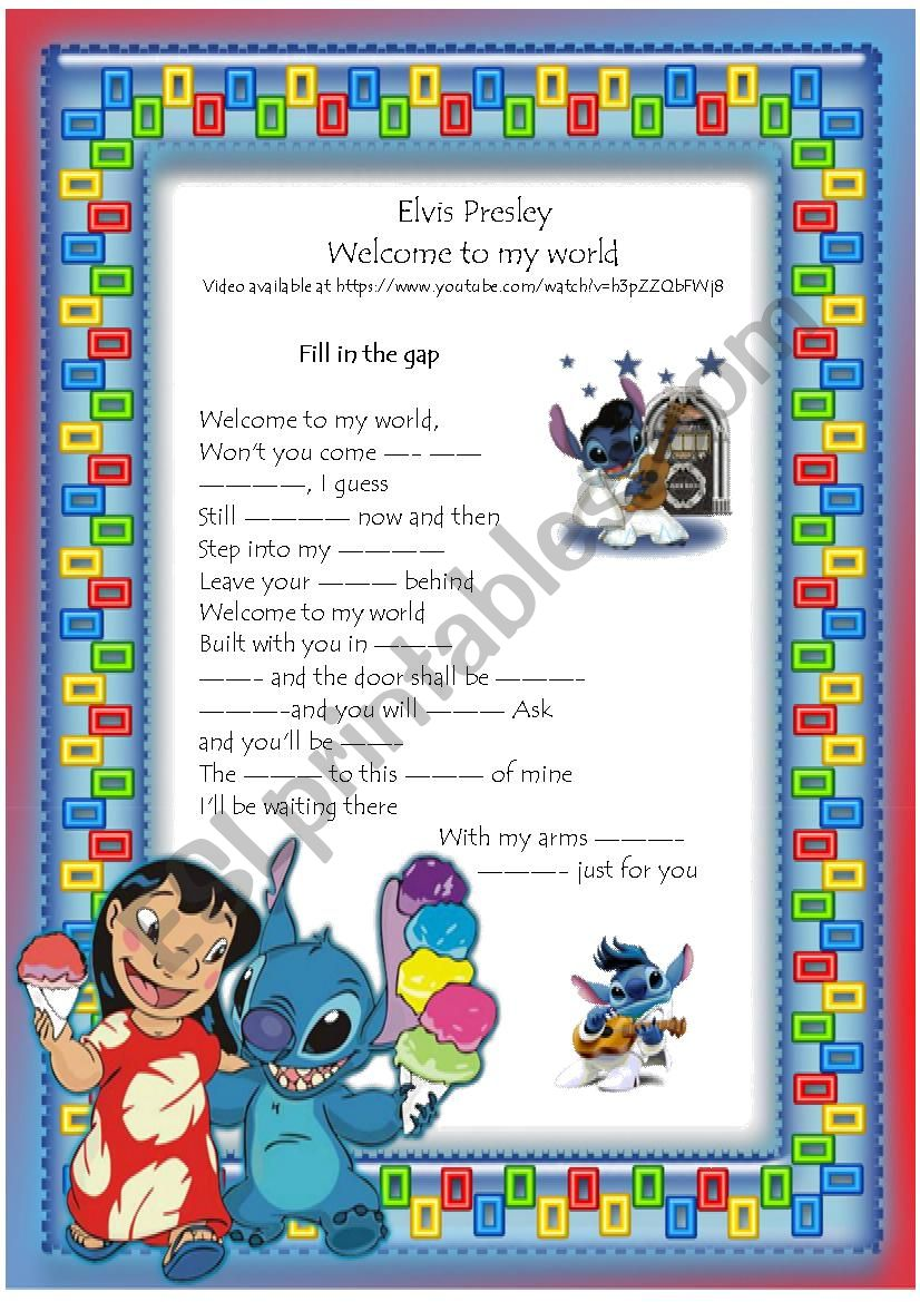 Elvis Presley song Welcome to my world + Video - ESL