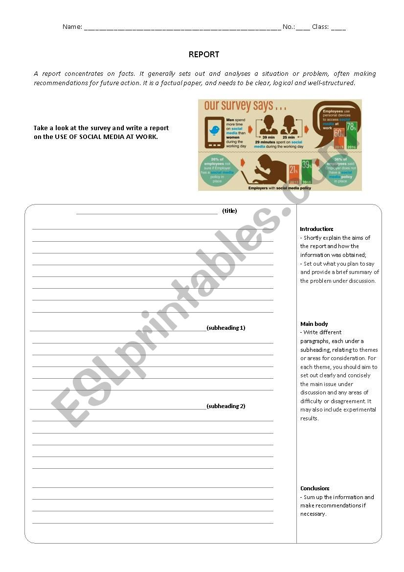 How to write a Report worksheet