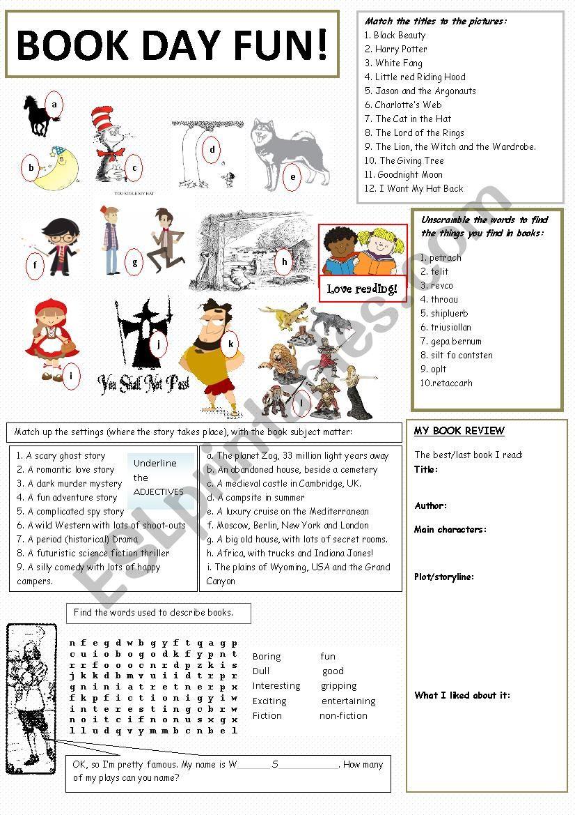 Book Day Fun worksheet