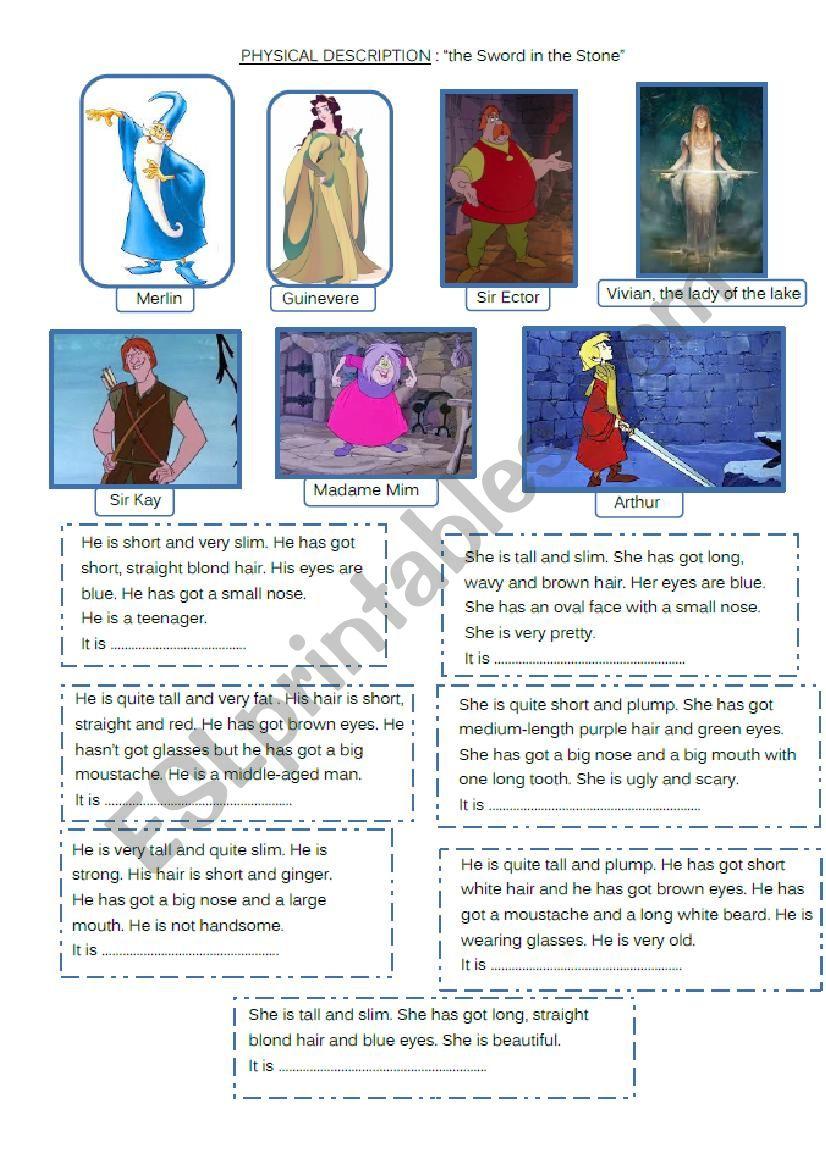 Physical description : King Arthur