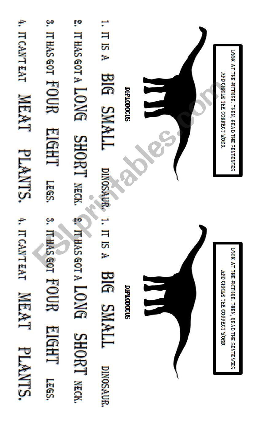 Diplodocus worksheet