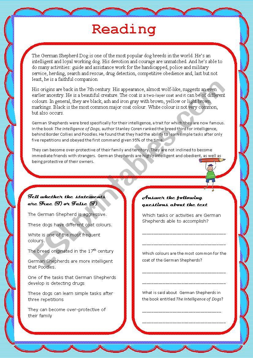- Reading Comprehension - ESL Worksheet By Carballada2