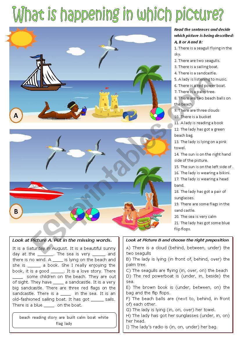 Picture description exercises.