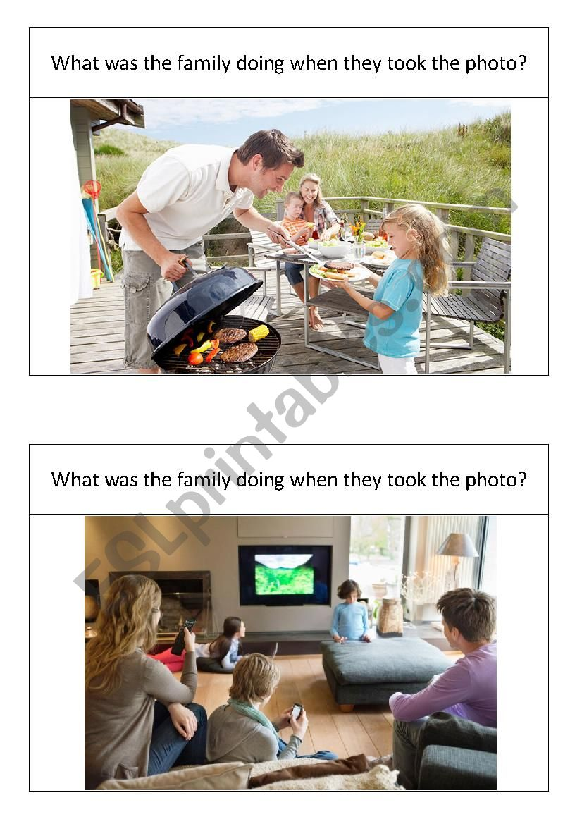 What was the family doing? worksheet