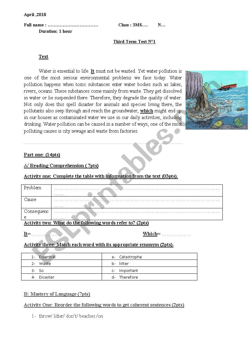 River pollution   PrimaryLeap co uk besides Water Pollution Worksheet For Grade 1 By Teachers Pay Lesson Plans furthermore water pollution   ESL worksheet by qastal in addition  also Cause And Effect Science Worksheets Fabulous Best Images About as well Water Water Everywhere   Reading Worksheets  Spelling  Grammar also Resources   Science   Habitats And Biomes in addition Pollution Nonfiction Article    prehension Activities moreover  as well  further  besides environment reading  prehension worksheets in addition  together with  further Furniture Worksheets For Preers Free Printable High furthermore Water pollution   ESL worksheet by Bilabel. on water pollution reading comprehension worksheet