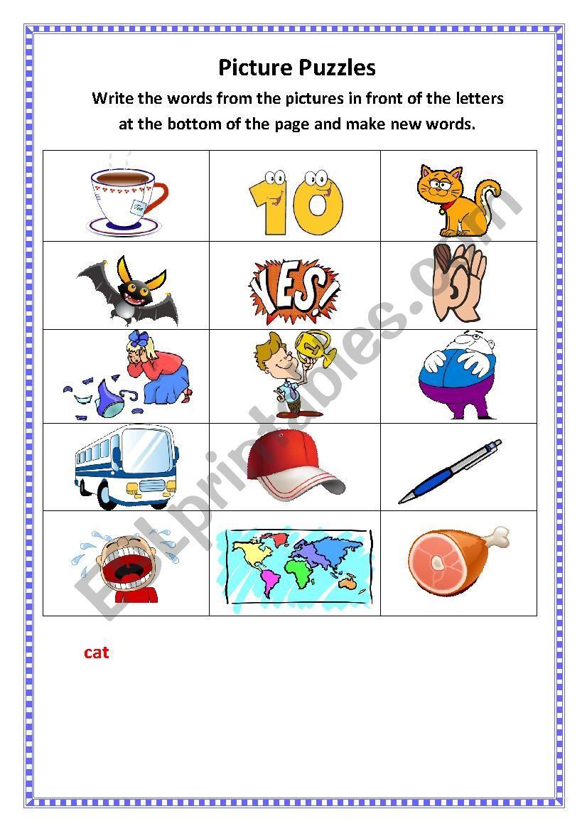 Picture Puzzles worksheet