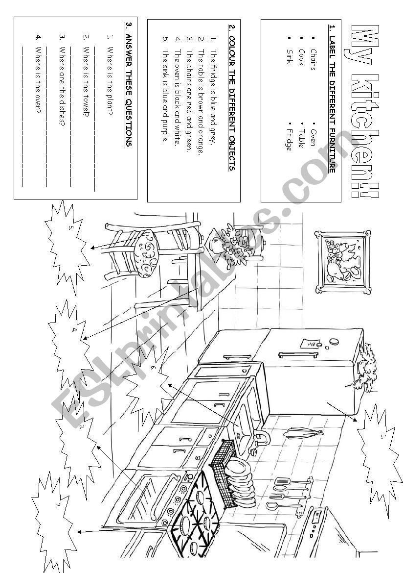 My house: My kitchen worksheet