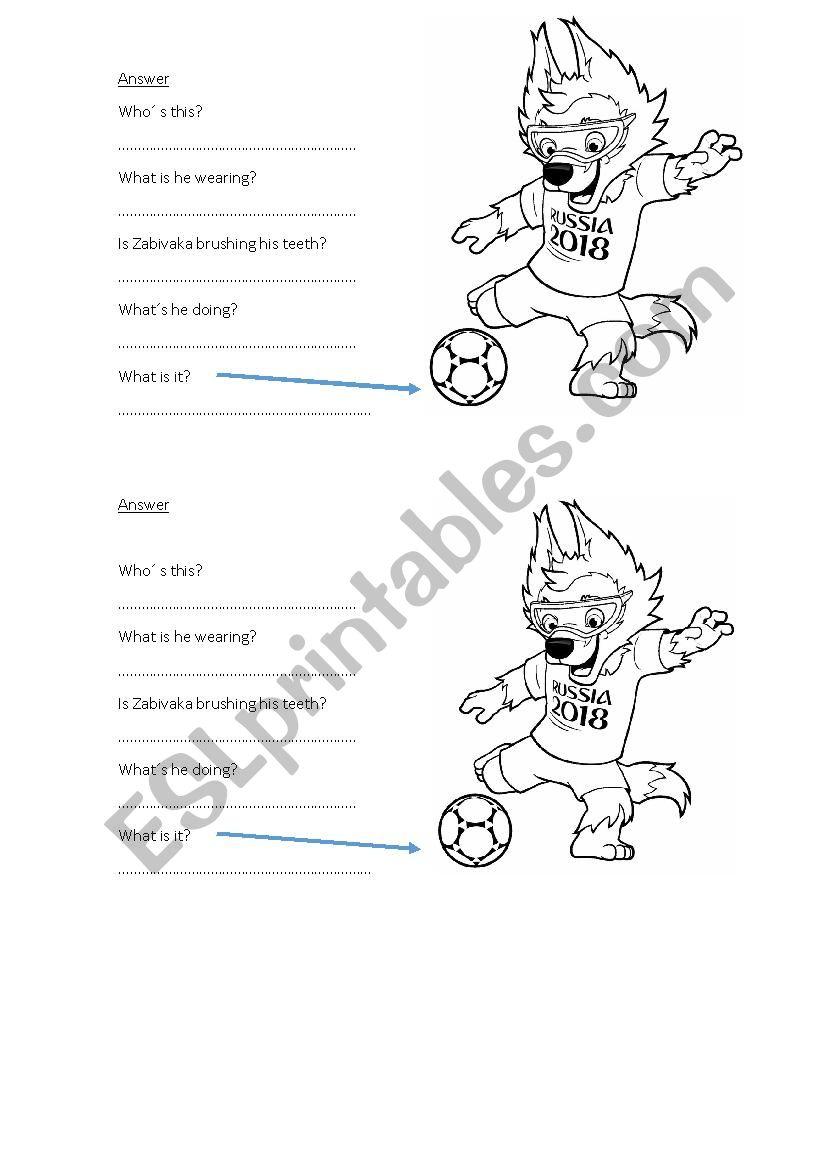 answer about Zabivaka worksheet