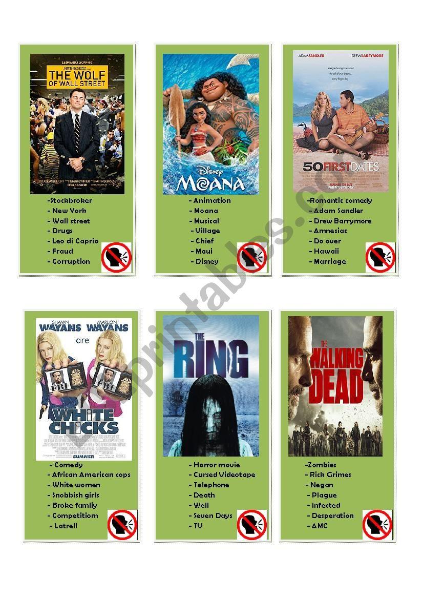 American Taboo Movie taboo word - esl worksheetnamalho