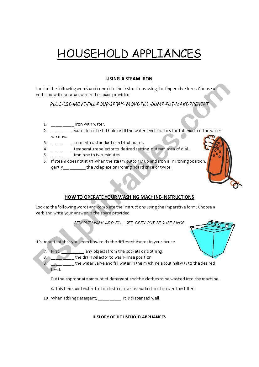 Instructions on How to Operate Electrical Appliances