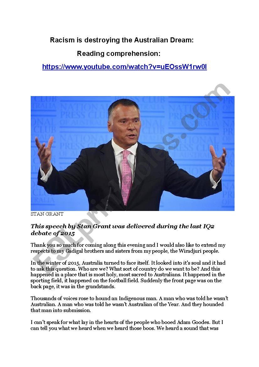 Racism is destroying the Australian Dream
