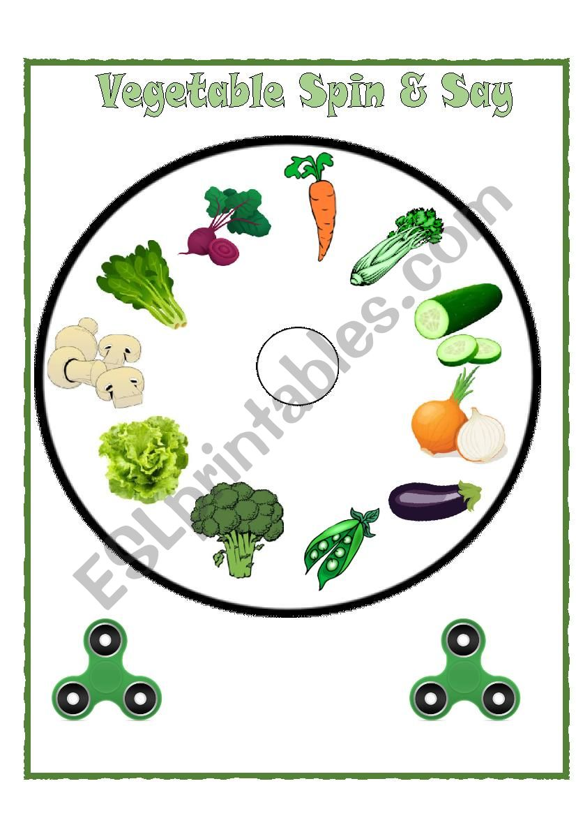 Vegetable Spinner Speaking Activity