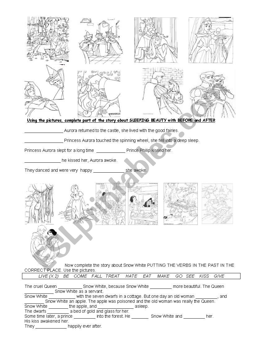 fairy tales esl worksheet by paolap. Black Bedroom Furniture Sets. Home Design Ideas
