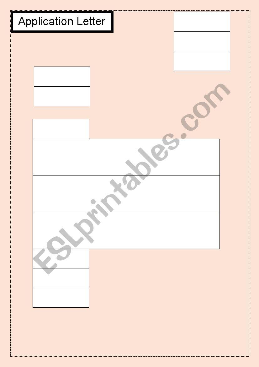 application letter for a job worksheet