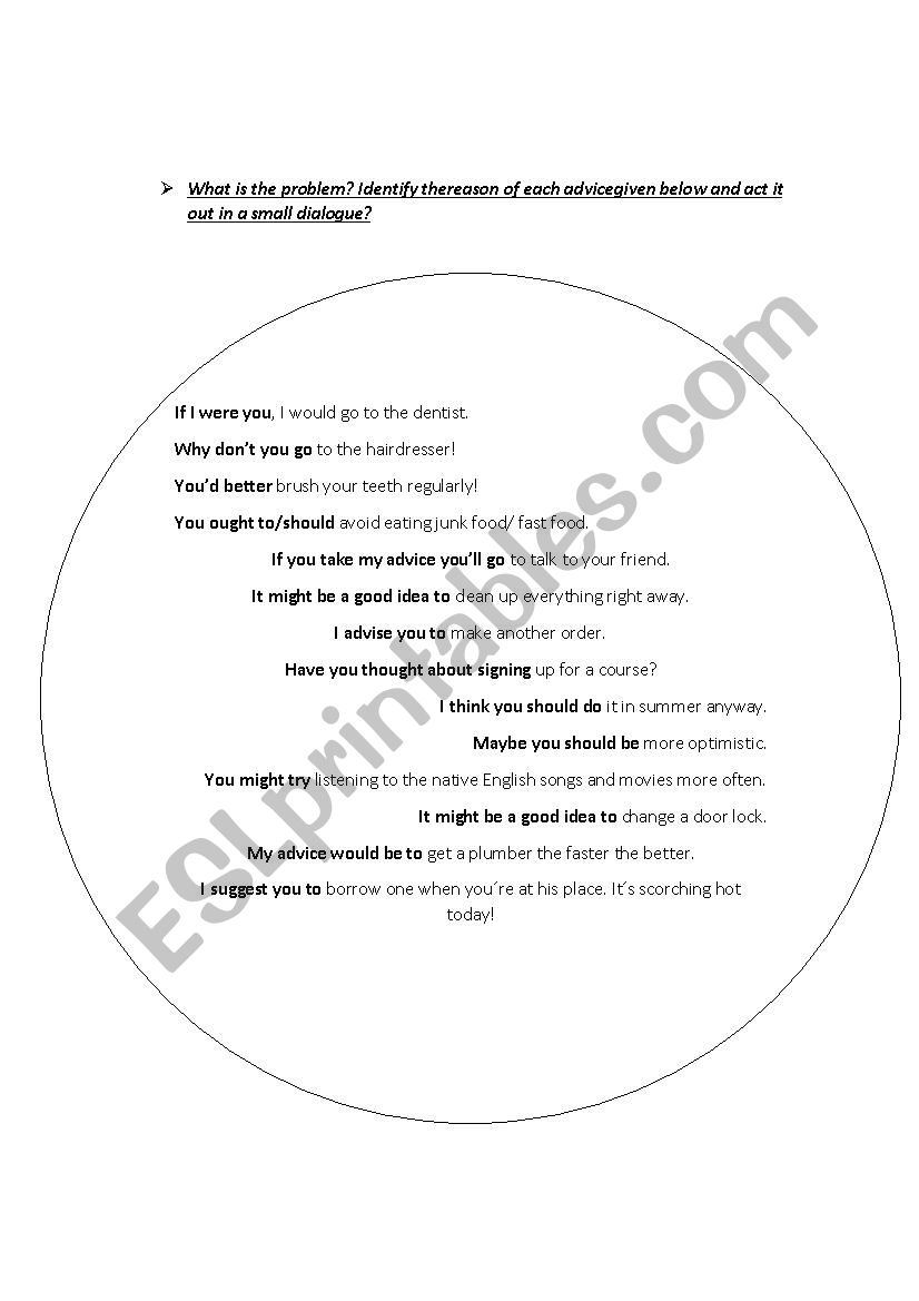 Problem Hunt worksheet