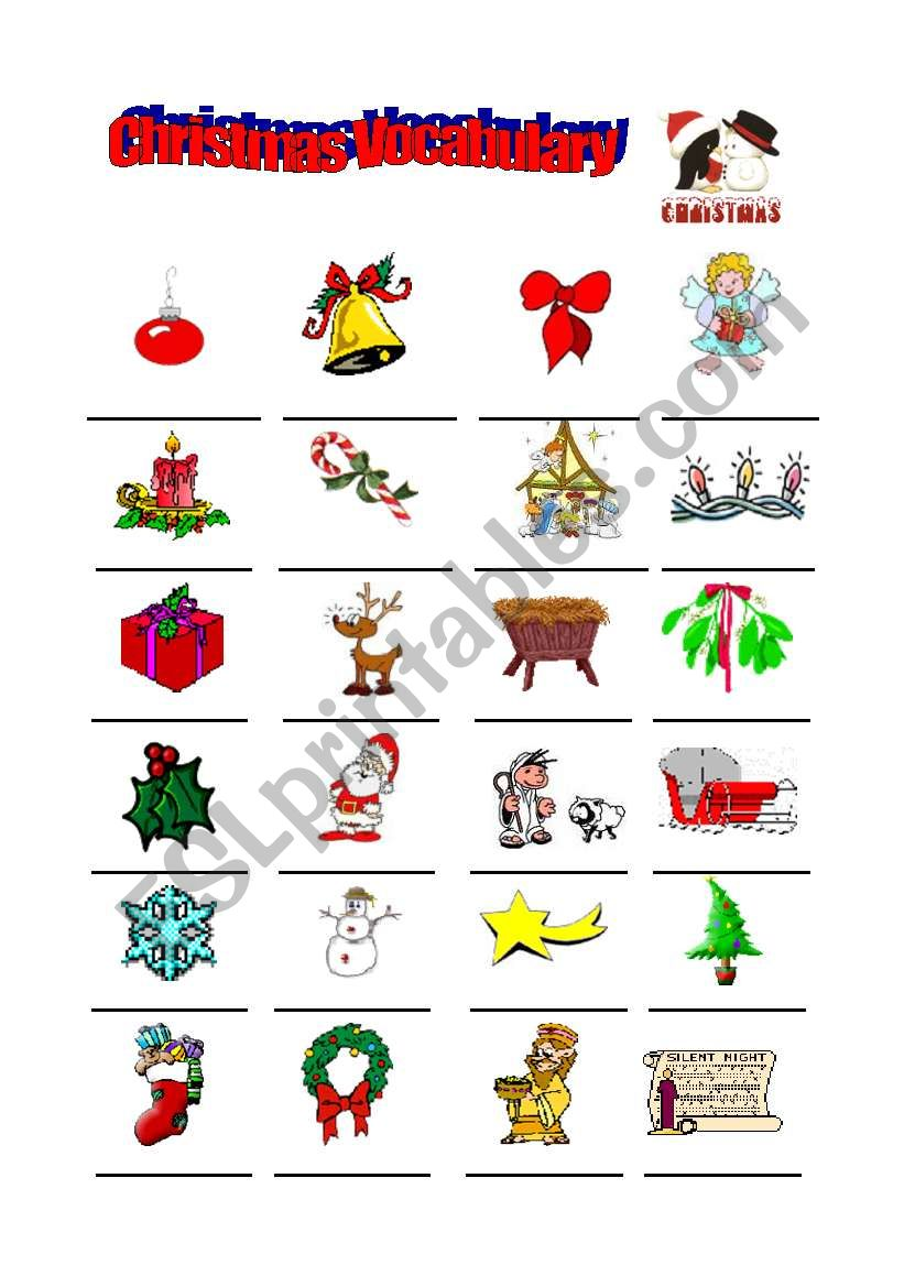 christmas vocabulary esl worksheet by galoucha. Black Bedroom Furniture Sets. Home Design Ideas