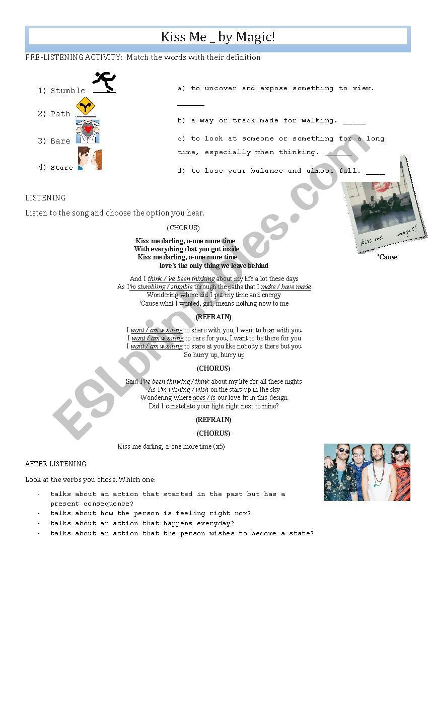 KISS ME - MAGIC worksheet