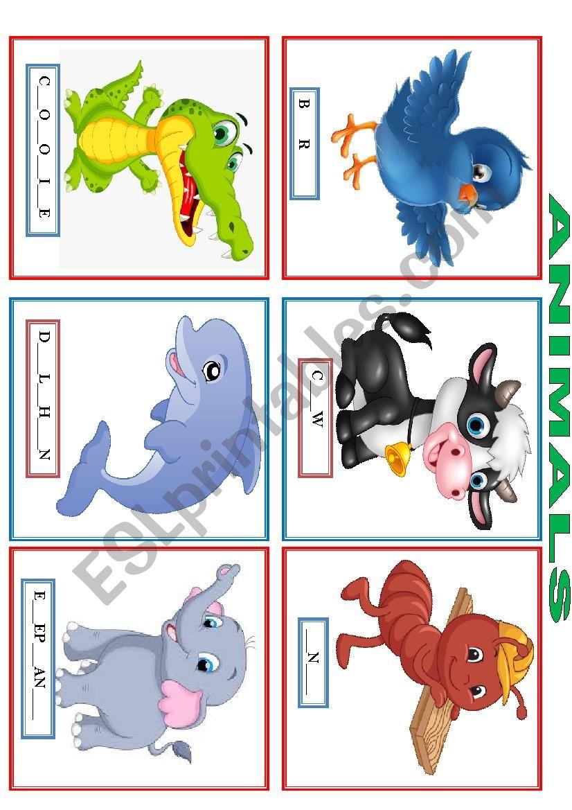 Flashcards - animals 2 worksheet