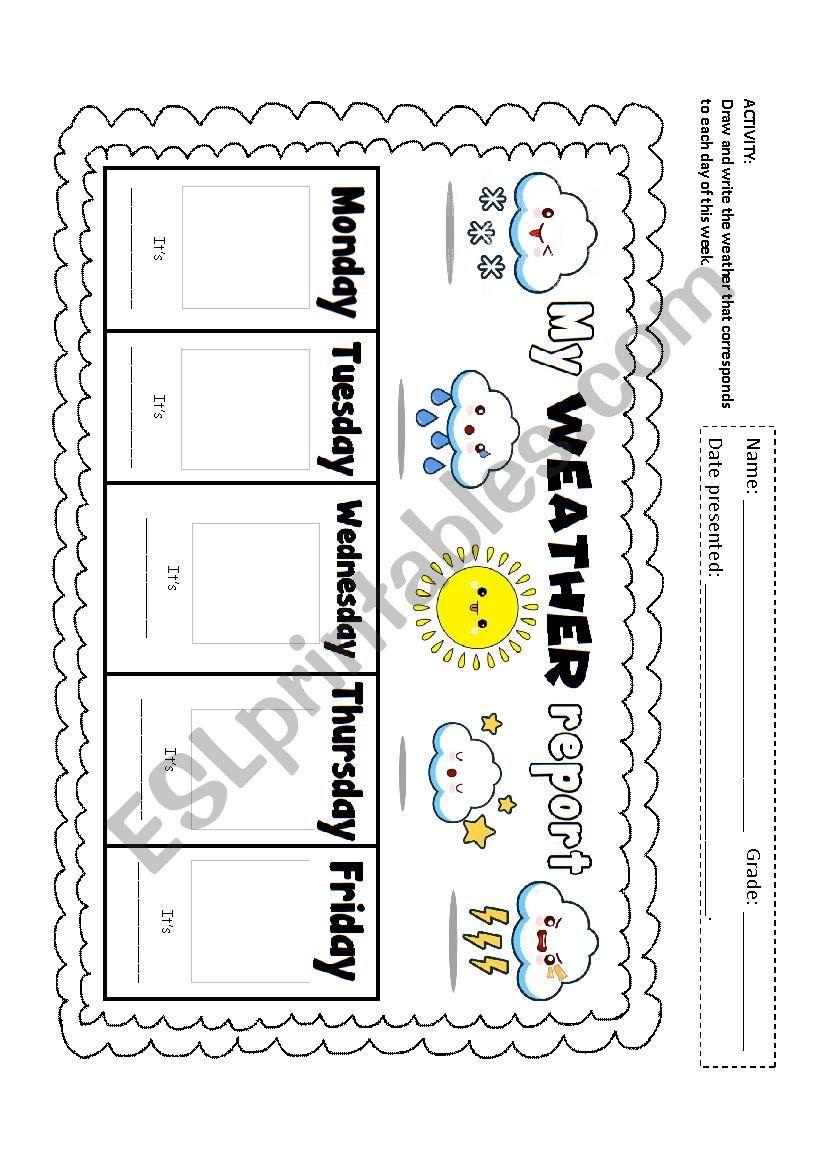 Weather Report worksheet