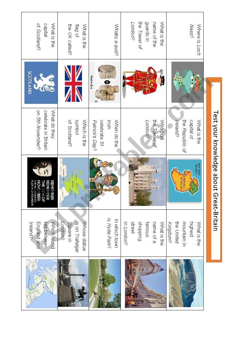Test your knowledge on British culture